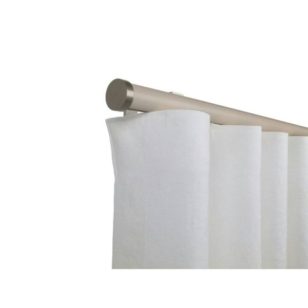Kouvola 35 mm Wood Pole Set for 6 cm Wave Curtains Ivory