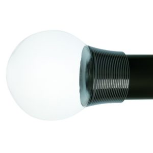Oslo 50mm Plain Ball Finial With Reeded Collar