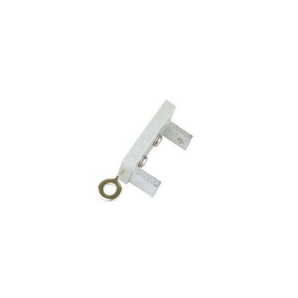 Icon M52 40 x 25 mm Aluminum Oak Facial Poles for Wave Curtains 7mm End Cap