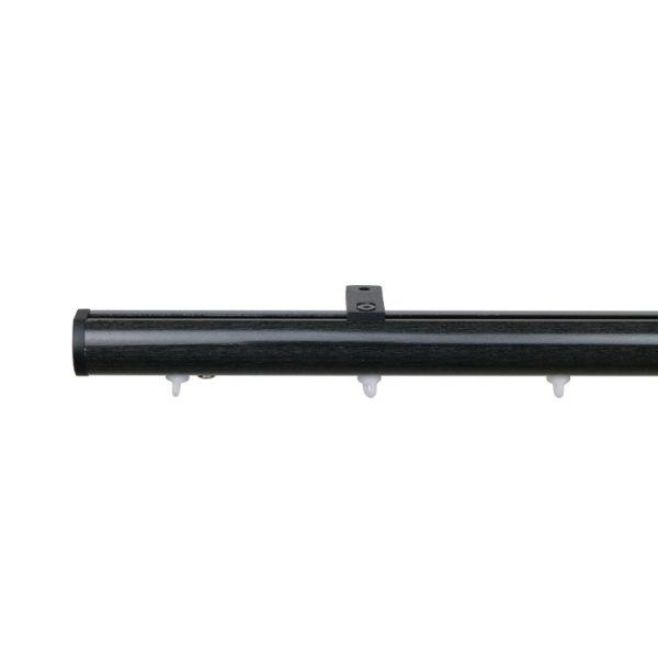 Now M51 28 mm Aluminum Poles Set Ceiling Bracket for 6cm Wave Curtains Black