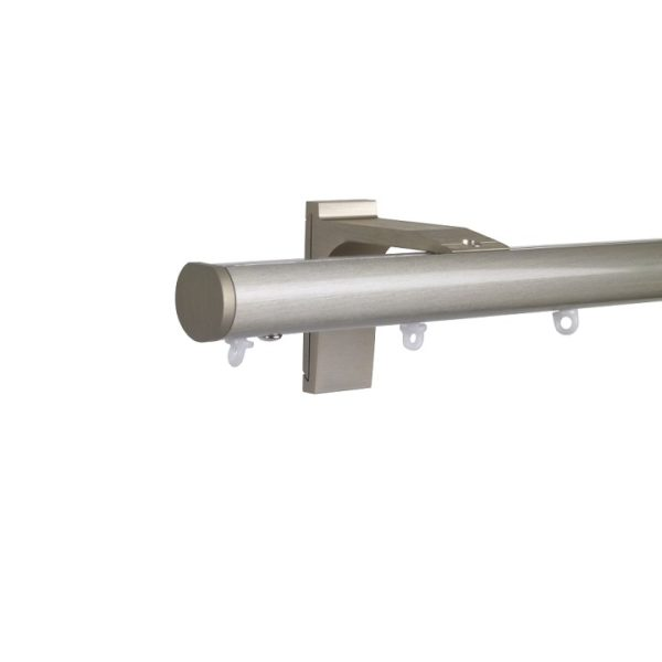 Now M51 28 mm Aluminum Poles Set Single Bracket for 6cm Wave Curtains Champagne