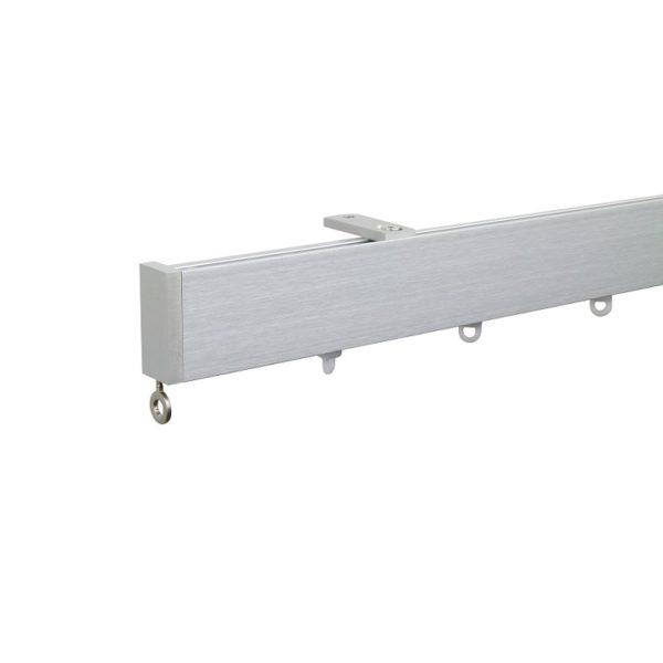 Now M51 40 x 18 mm Aluminum Poles Set Ceiling Bracket for 6cm Wave Curtains Natural, End Cap