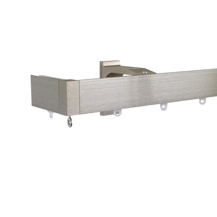 Now M51 40 x 18 mm Aluminum Poles Set Single Bracket for 6cm Wave Curtains Champagne, End Return