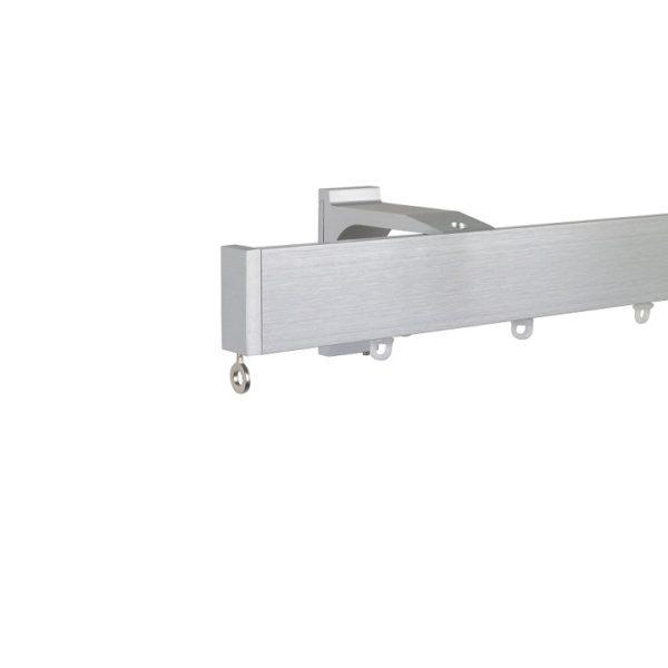 Now M51 40 x 18 mm Aluminum Poles Set Single Bracket for 6cm Wave Curtains Natural, End Cap