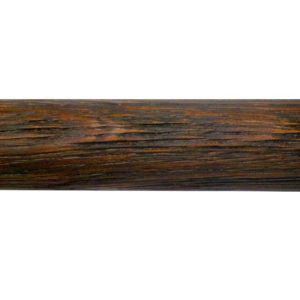28mm Pole, Wood with metal core, White Oak, Brushed, Dark Oil