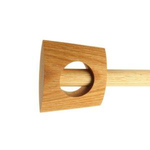 Zen 28mm Zen Finial, White Oak,  Natural Oil, 10x115x54mm