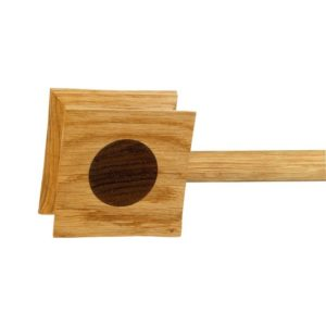 Zen 28mm Square Pagada Finial, Oak with Walnut insert