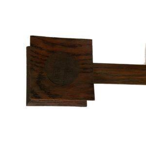 Zen 28mm Square Pagada Finial, Oak with Walnut insert