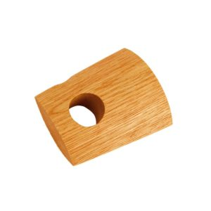 28mm Bracket, White Oak, Natural Oil, Brushed,70mm to wall