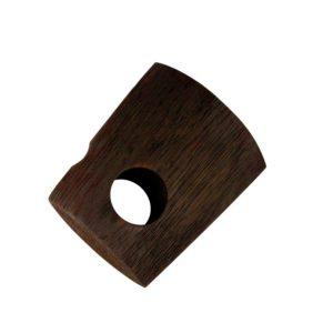 28mm Bracket, White Oak, Dark Oil, Brushed, 70mm to wall