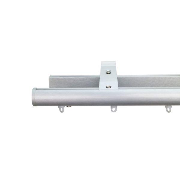 Now M51 28 mm Aluminum Poles Set Double Bracket for 6cm Wave Curtains Natural