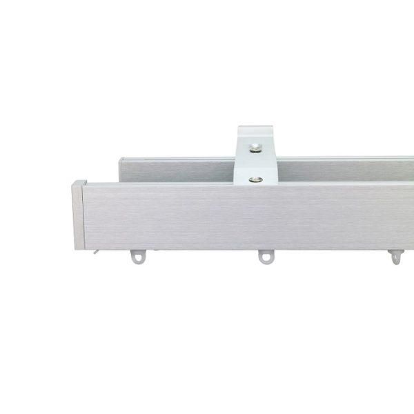 Now M51 40 x 18 mm Aluminum Poles Set Double Bracket for 6cm Wave Curtains Natural