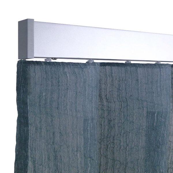 Alicante Fontana Smoky blue Wave curtain
