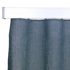 Alicante Fontana Smoky blue Wave curtain