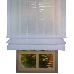 Edmund bell Endless White Sheer Roman Blind