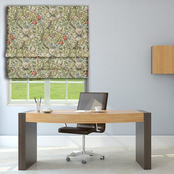 Morris Golden Lily Roman Blind