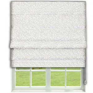 Morris Pure Willow Boughs Weave  Lightish Grey Roman Blind