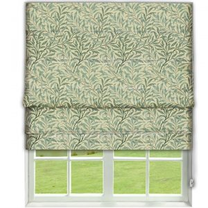 Morris Willow Boughs Cream/Pale Green Roman Blind