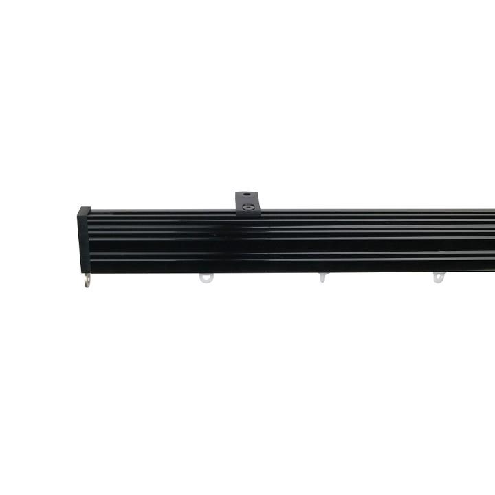 Now M52 40 x 18 mm Aluminum Poles Set Ceiling Bracket for 6cm Wave Curtains Black