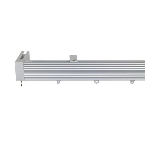 Now M52 40 x 18 mm Aluminum Poles Set Ceiling Bracket for 6cm Wave Curtains Natural