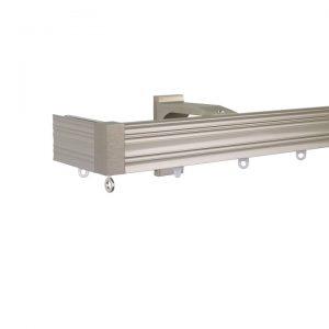 Now M52 40 x 18 mm Aluminum Poles Set Single Bracket for 6cm Wave Curtains Champagne