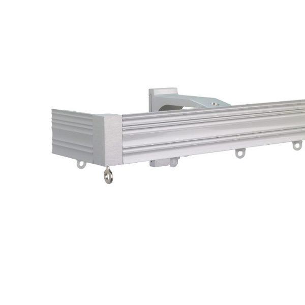 Now M52 40 x 18 mm Aluminum Poles Set Single Bracket for 6cm Wave Curtains Natural