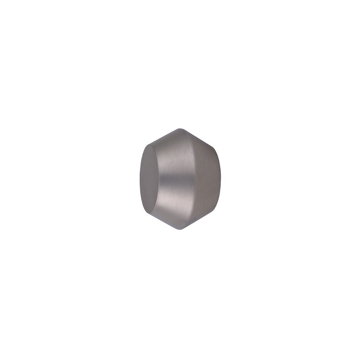 Oslo M81 28 mm Aluminum Poles for Wave Curtains Finial Geometric