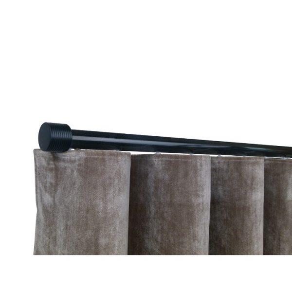 Oslo M81 28 mm Cylinder Aluminum Poles Set Single Bracket for 6cm Wave Curtains Black
