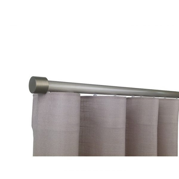 Oslo M81 28 mm Cylinder Aluminum Poles Set Single Bracket for 6cm Wave Curtains Champagne