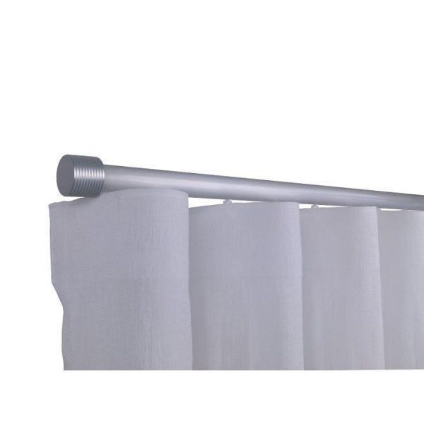Oslo M81 28 mm Cylinder Aluminum Poles Set Single Bracket for 6cm Wave Curtains Natural
