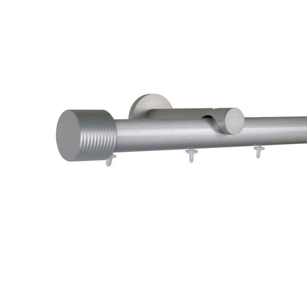 Oslo M81 28 mm Cylinder Aluminum Poles Set Single Bracket for 6cm Wave Curtains Natural