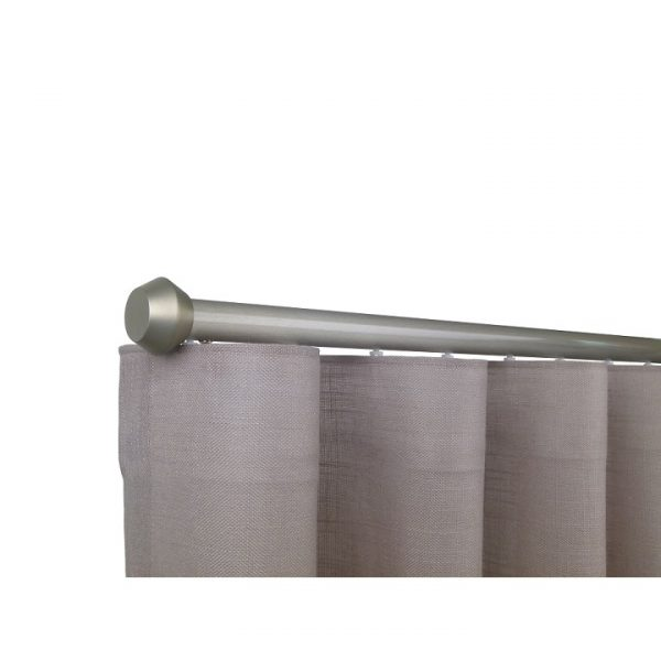 Oslo M81 28 mm Geometric Aluminum Poles Set Single Bracket for 6cm Wave Curtains Champagne