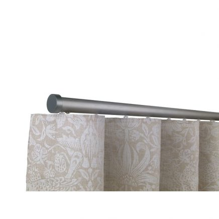 Oslo M82 28 mm Aluminum Poles Set Single Bracket for 6cm Wave Curtains Gunmetal