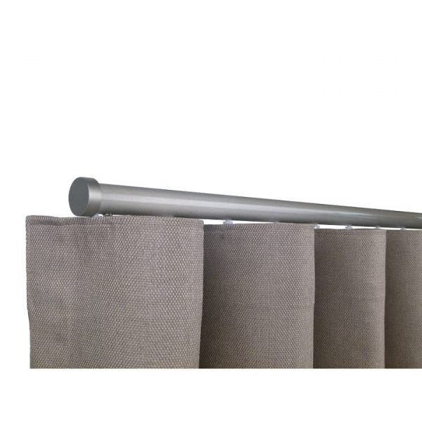 Oslo M82 28 mm Aluminum Poles Set Single Bracket for 6cm Wave Curtains Champagne