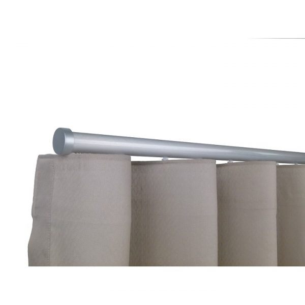 Oslo M82 28 mm Aluminum Poles Set Single Bracket for 6cm Wave Curtains Natural