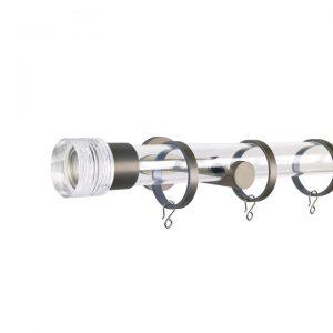 Oslo M83 30 mm Cylinder Acrylic Poles Set Single Bracket Champagne