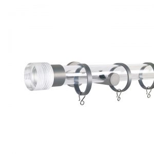 Oslo M83 30 mm Cylinder Acrylic Poles Set Single Bracket Natural