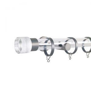 Oslo M83 30 mm Cylinder Acrylic Poles Set Single Bracket Natural