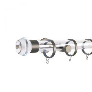 Oslo M83 30 mm Geometric Acrylic Poles Set Single Bracket Champagne