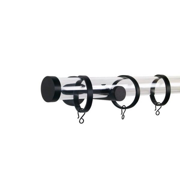 Oslo M84 30 mm Acrylic Poles Set Single Bracket Black