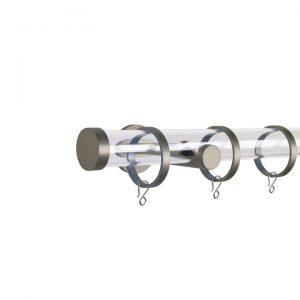 Oslo M84 30 mm Acrylic Poles Set Single Bracket Champagne