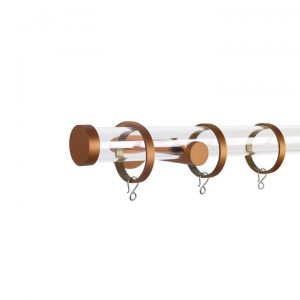 Oslo M84 30 mm Acrylic Poles Set Single Bracket Rose Gold