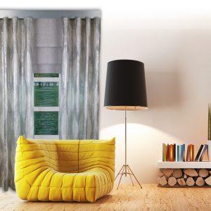 Combi Prestigious Perspective Flint Wave Curtain with Iceland Flint Roman Blinds