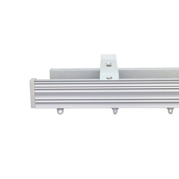 Now M52 40 x 18 mm Aluminum Poles Set Double Bracket for 6cm Wave Curtains Natural