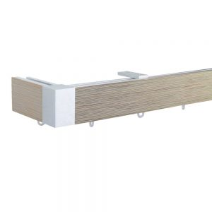 Icon M51 40 x 25 mm Aluminum Wood Facial Pole Set Ceiling Bracket for 6 cm Wave Curtains Textured Drift Wood Patent number: EP2514345